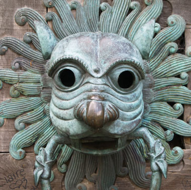Brougham Hall door knocker
