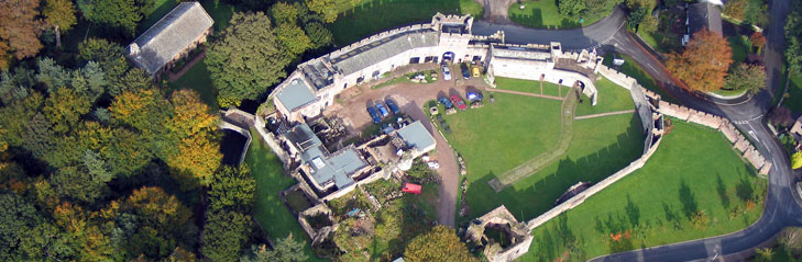 Brougham Hall from above